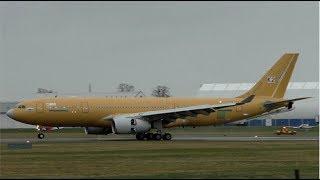Korean Air Force Airbus A330MRTT Landing at Cambridge Airport