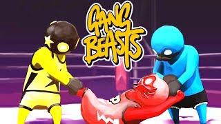 Gang Beasts Gameplay Hindi (PC) #1 😂LIVE👺