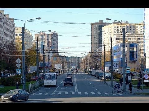 Проспект Королева в Санкт-Петербурге целиком