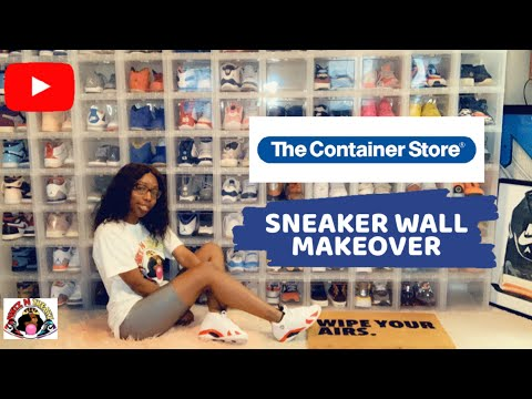 The Container Store Sneaker Wall Makeover