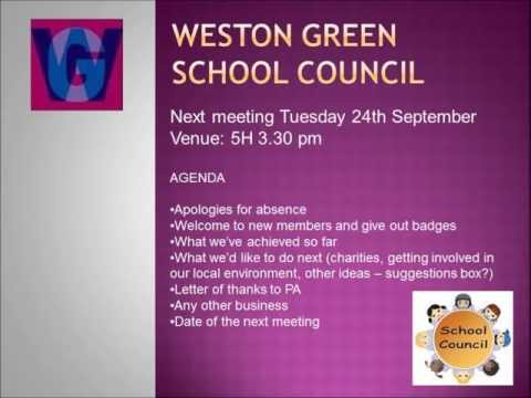 Weston Green School: What is a School Council?