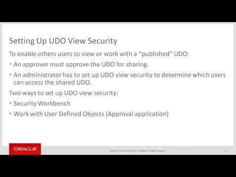 Securing User Defined Objects (UDO) - YouTube