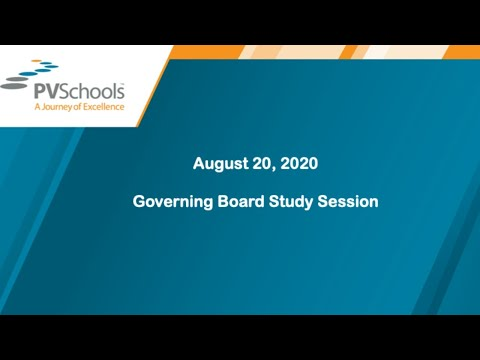 August 20, 2020 Governing Board Study Session