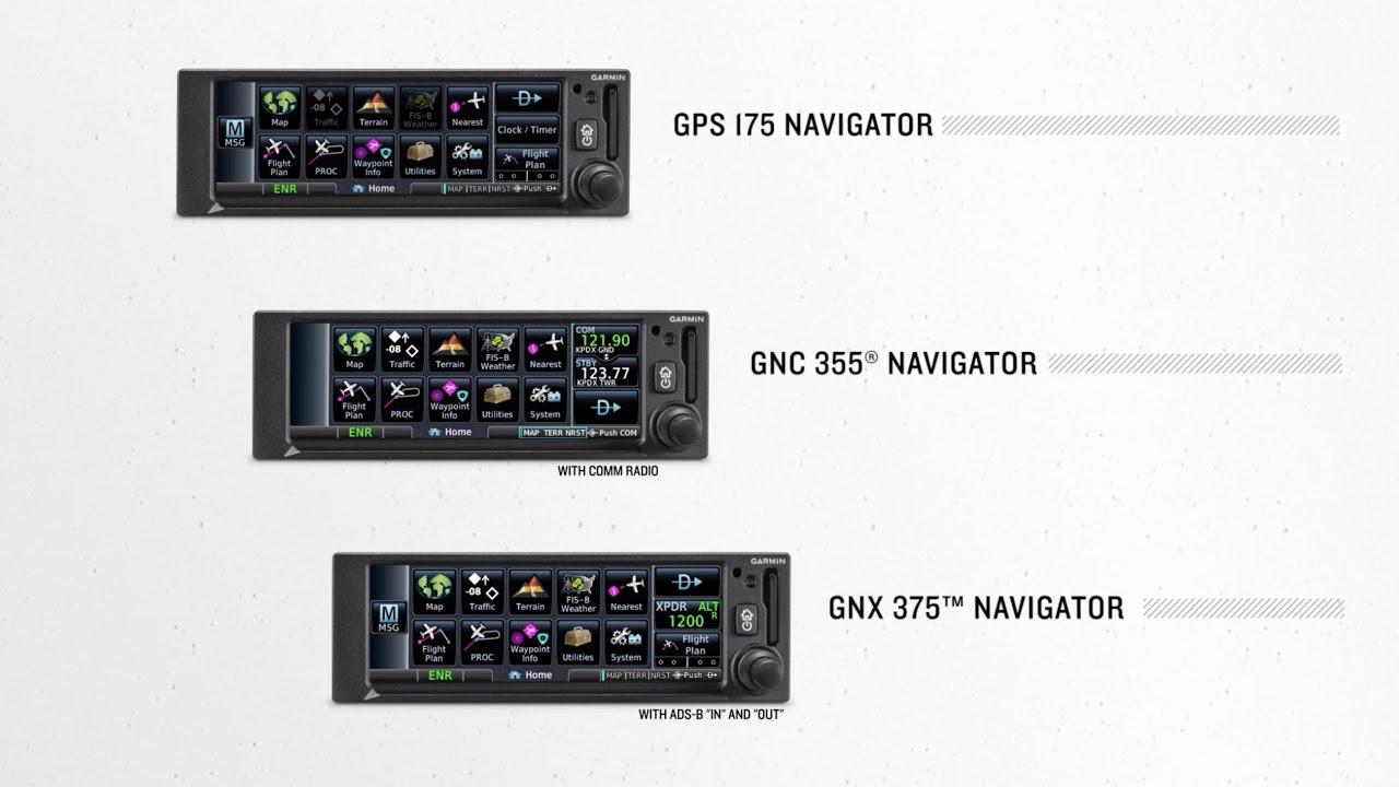GARMIN GPS 175 GPS NAVIGATOR WITH GA 35 GPS ANTENNA KIT STC