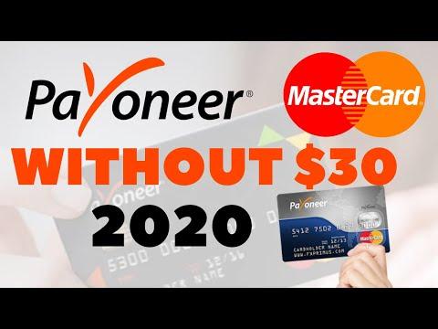 Payoneer Card Order Without 30 Dollars ||  Payoneer Mastercard ||  Payoneer Mastercard 2020