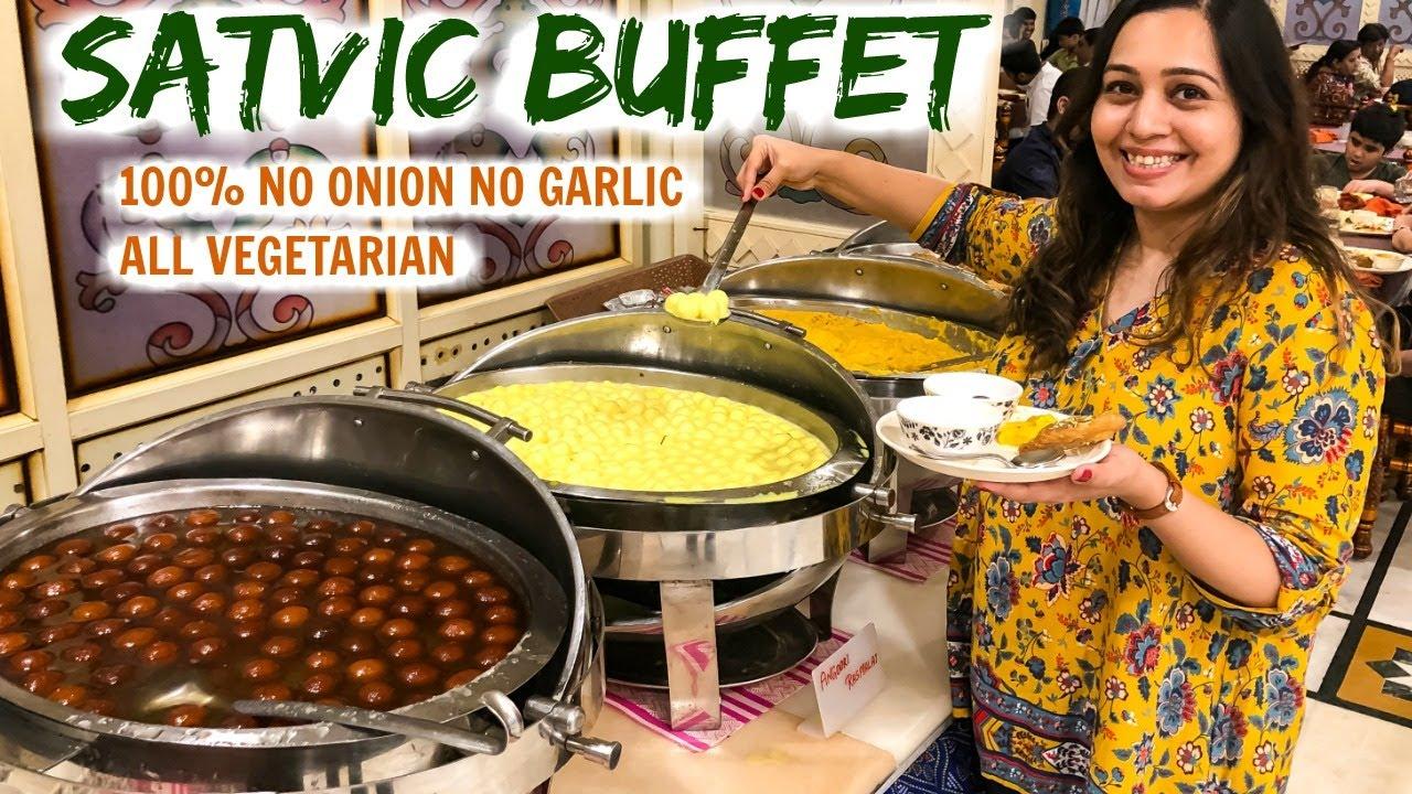 Download INDIAN FOOD BUFFET (Pure Veg)   MAHABHOG at ISKCON Mumbai   Satvic Food