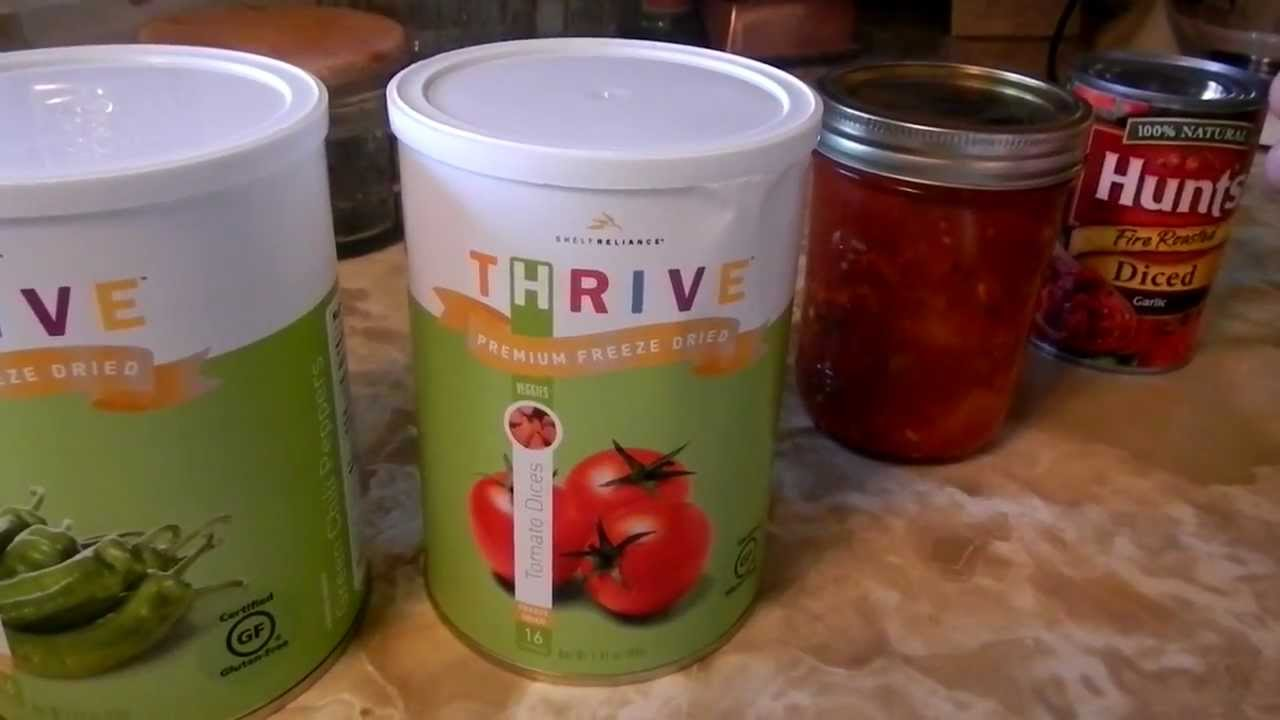 Using Thrive Freeze Dried Food Storage Everyday - YouTube