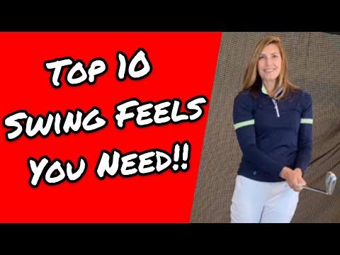 FEEL A BETTER GOLF SWING!: Top 10 swing feels you need!
