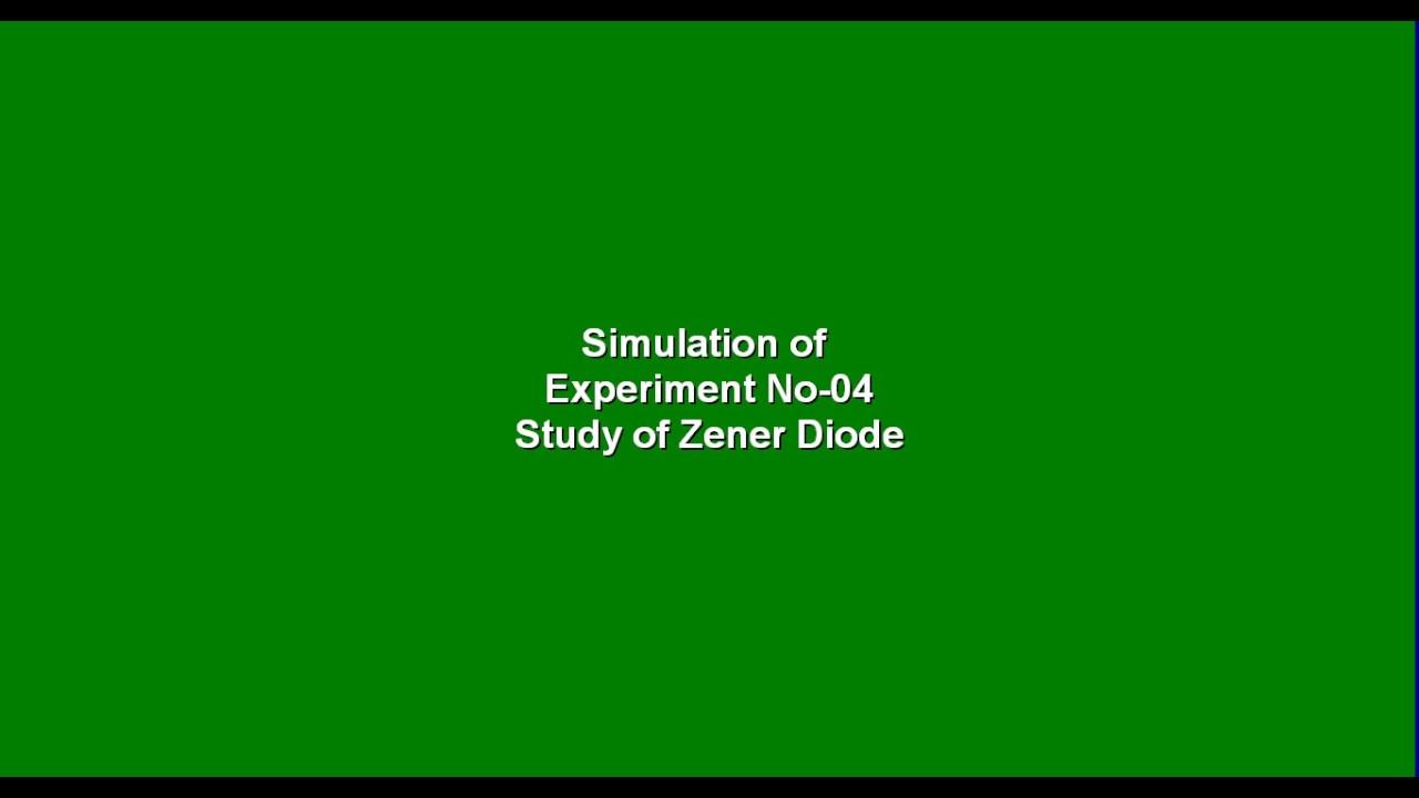 Simulation Of Study Zener Diode Using Multisim Youtube Zenerdiodecircuits Circuits