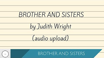 judith wright brothers and sisters
