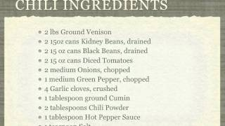 Crockpot Venison Chili Recipe - Venisonhq