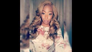 OUTRE Swiss Lace L Part Wig Adele | Samsbeauty