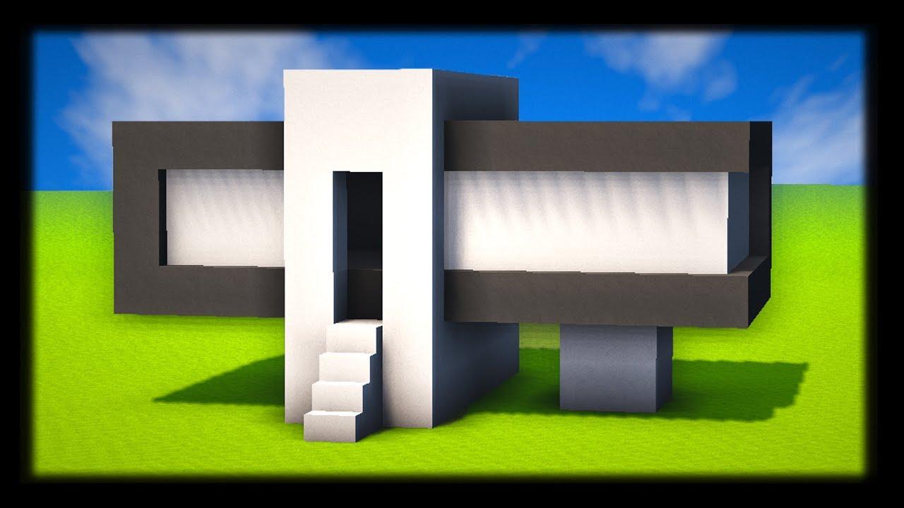 Comment construire une petite maison moderne tuto build minecraft youtube for Construction de petite maison