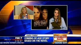 "Video Cara Delevingne talks to ""Good Day Austin"" about ""Paper Towns"" download MP3, 3GP, MP4, WEBM, AVI, FLV Juni 2018"