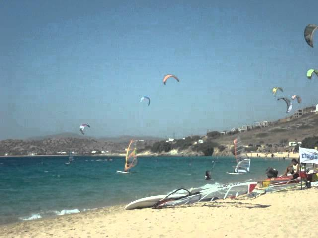 Kitesurf and Windsurf holidays mikri vigla naxos greece - thalaseasports.com Travel Video