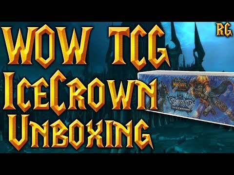Unboxing Sourge War Icecrown Epic Box - MOUNT DROP! - World Of Warcraft TCG