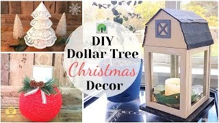 DOLLAR TREE CHRISTMAS DIYS | KOHLS INSPIRED | DOILY TREE |HOME DECOR IDEAS | FARMHOUSE BARN LANTERN