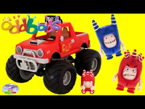 Oddbods Fuse Pogo Face Changer Figures Monster Truck Episode Surprise Egg and Toy Collector SETC