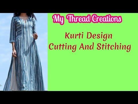 New Kurti Design Cutting And Stitching | Exclusive Designer Kurti Cutting and Stitching