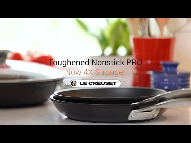 Toughened Nonstick Pro Sauté Pan + Helper Handle + Glass Lid // 4.25 qt. video thumbnail