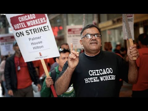 Chicago Hotel Workers Strike for Decent Health Care