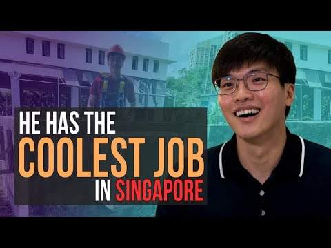 He has the coolest job in Singapore!