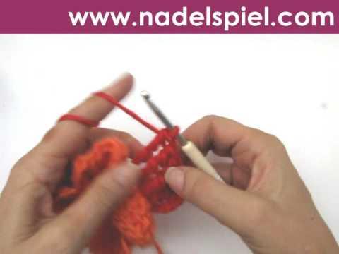 Häkeln Lernen Häkelblüte Poppy Gehäkelte Mohnblume Filzwolle