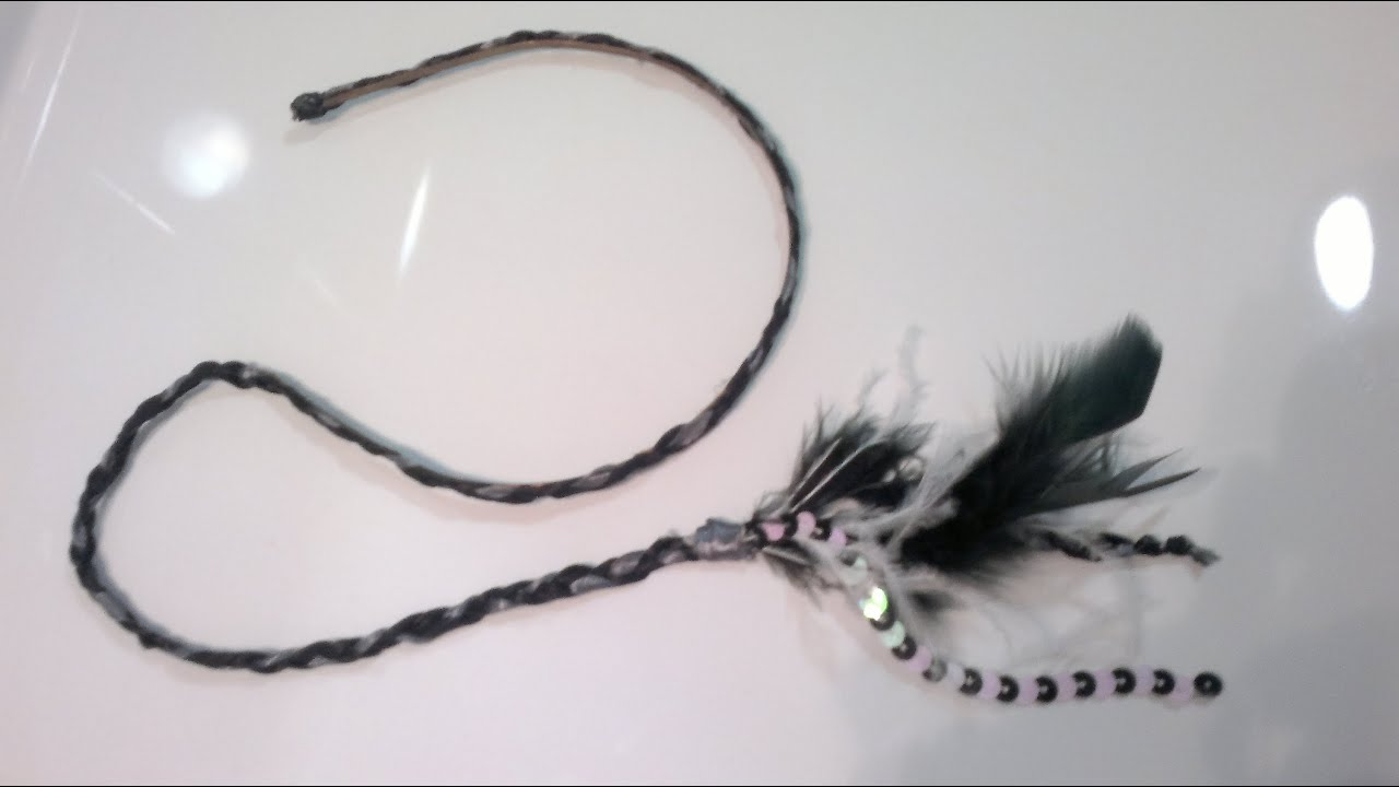 Diy como hacer una diadema con plumas colgantes youtube - Como hacer diademas ...