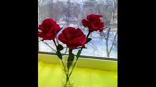 Искусственные цветы  Розы из гофрированной бумаги(Искусственные цветы используют в основном как элемент декора в интерьере.Красивые розы в красивой вазе..., 2016-03-03T16:50:06.000Z)