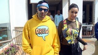 Dashing Varun Dhawan & Gorgeous Shraddha Kapoor Spotted Promoting The Film Street Dancer 3d At Juhu