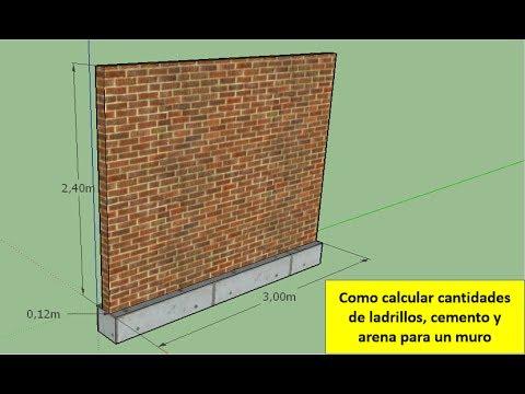 Como calcular ladrillos cemento y arena para un muro for Mortero para ladrillos
