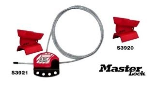 Master Lock S3920 and S3921 Butterfly Valve Lockout