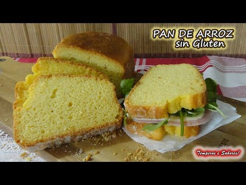 PAN DE ARROZ SIN GLUTEN, Especial para Celíacos, fácil, saludable y delicioso להורדה