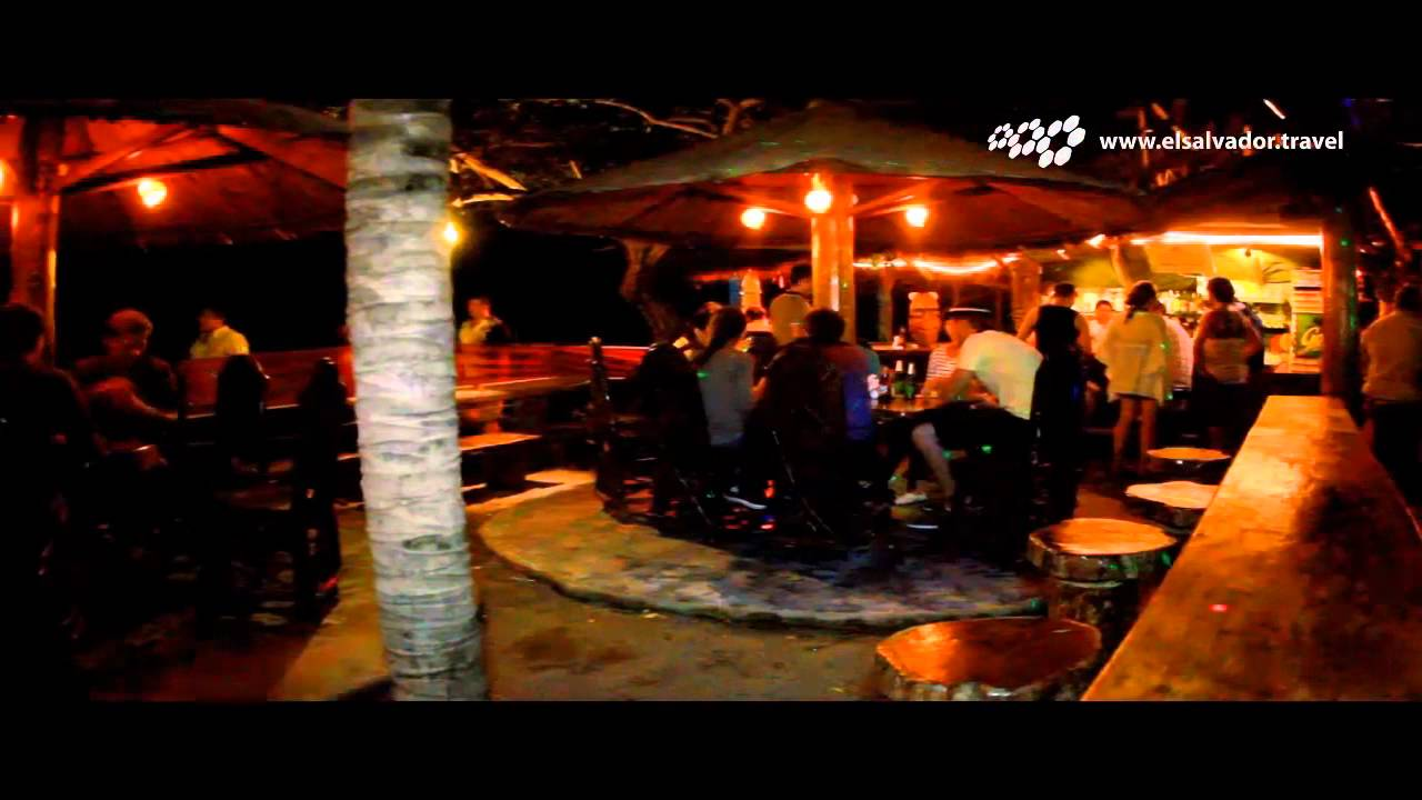 Bar D 180 Rocas Playa El Tunco Youtube