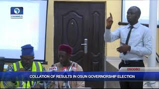 Collation Of Results In Osun Governorship Election Pt.9  Osun Decides 