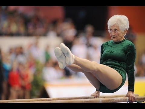 Oldest gymnast in the world - Johanna Quaas