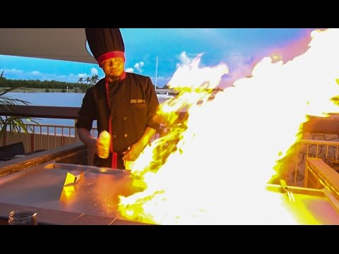 Teppanyaki Show with Chef Johnny on Grand Cayman