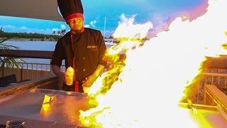 Teppanyaki Show with Chef Johnny on Grand Cayman