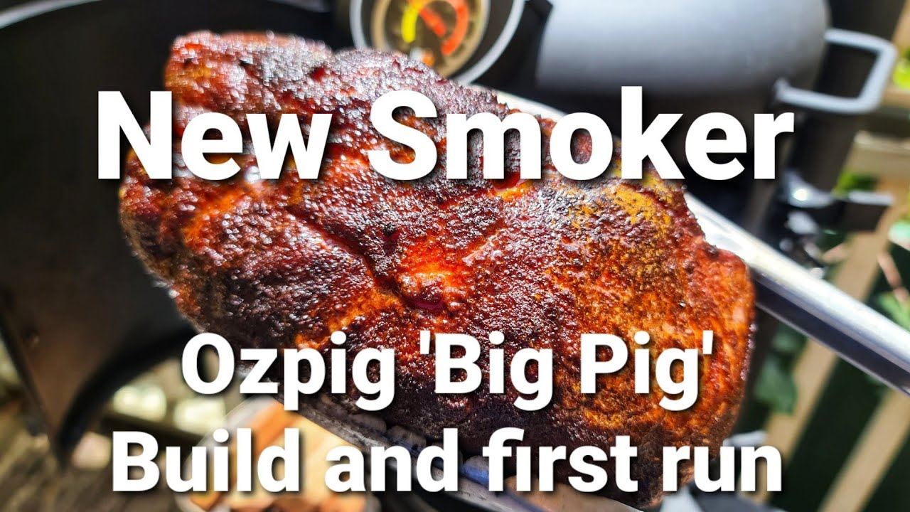 Download Big Pig Smoker unboxing and first cook! Our new OzPig!