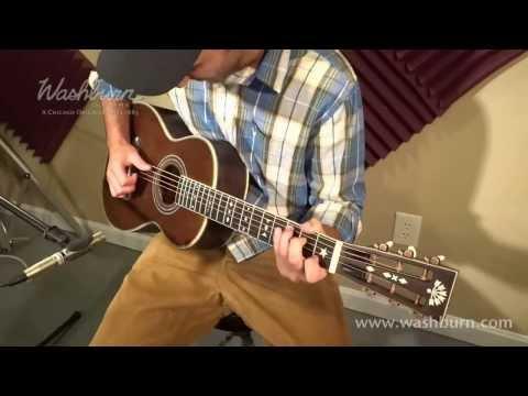 Washburn R314K Parlor Guitar Video Demo