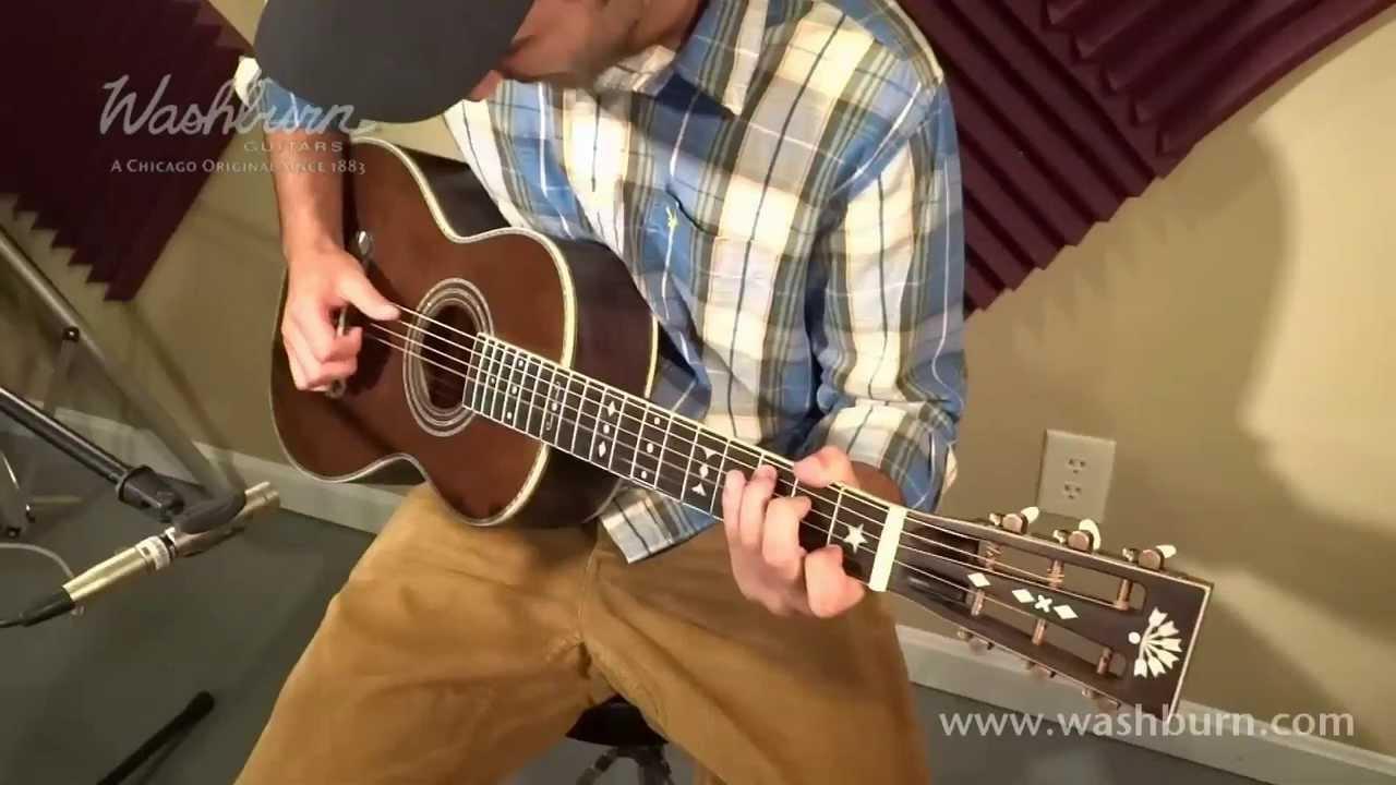 Washburn R314k Parlor Guitar Video Demo Youtube
