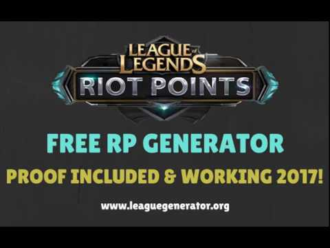 Free League Of Legends RP | Riot Points Generator 2017 | How To Get FREE RP