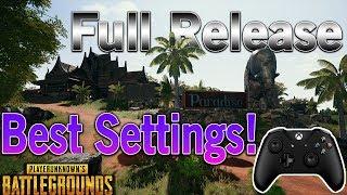 PUBG Xbox Full Release: Best Sensitivity Settings! (Controller)