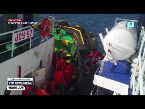 NEWS BREAK: Mga pasahero ng nasunog na vessel sa Calapan, Oriental Mindoro, nailigtas ng PCG