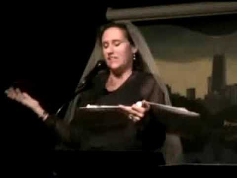 "Janet Kuypers hosts Chicago's ""the Cafe Gallery"" poetry open mic 10/30/13"