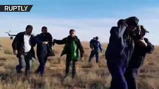 Rescue mission after Soyuz MS-10 crew emergency landing in Kazakh steppe