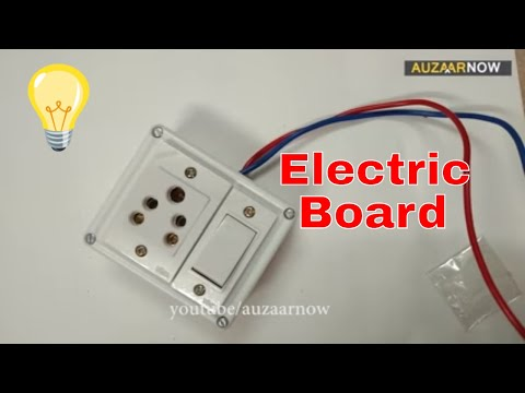 Electric Board Wiring Connection 1 Socket 1 Switch Single Board Youtube