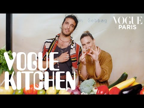 Bar Refaeli Learns To Cook Julien Sebbag's Signature Vegan And Vegetarian Recipes   Vogue Paris