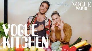 Bar Refaeli learns to cook Julien Sebbag's signature vegan and vegetarian recipes | Vogue Paris