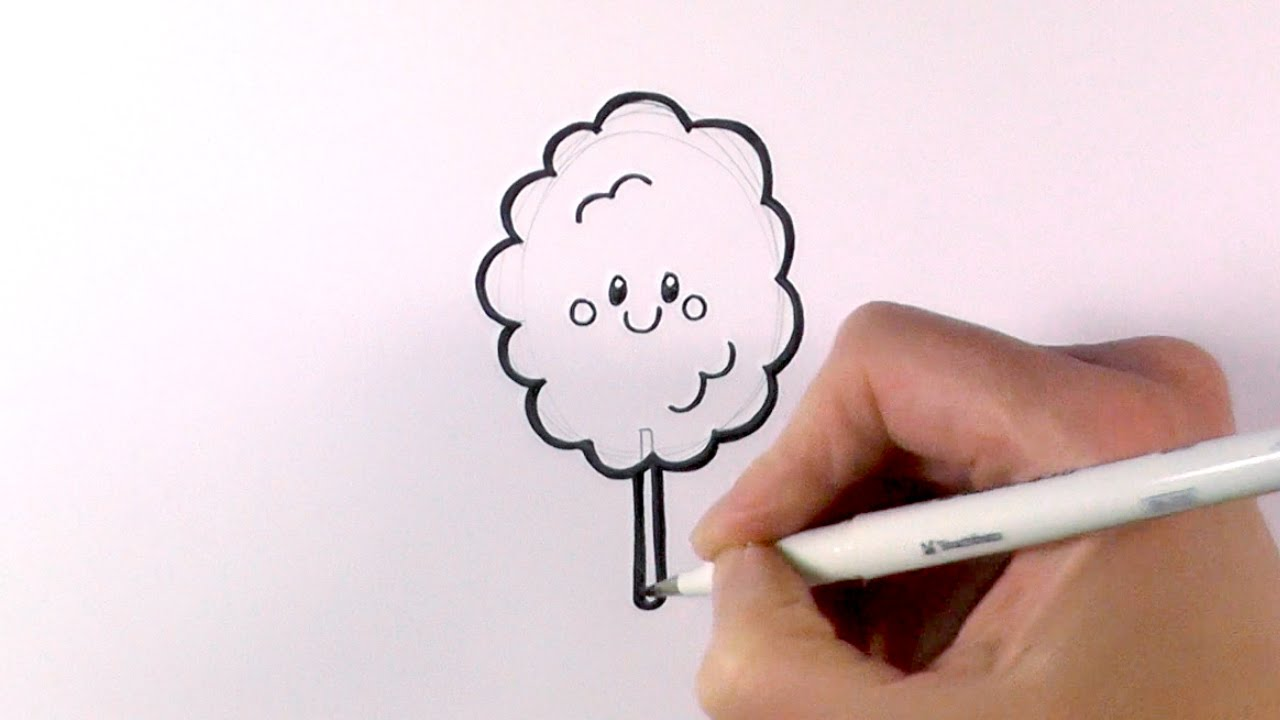 Uncategorized How To Draw Candy Step By Step how to draw cartoon candy flosscotton youtube